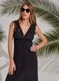 Morhipo Beach Düğme Detaylı Elbise Siyah